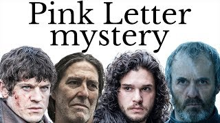 Pink Letter: who will win Winterfell in the next Game of Thrones book?