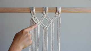 DIY Macrame Tutorial: Double Half Hitch Knot - How To Prevent Warping/Keeping Your Lines Straight!