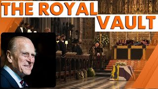 Prince Philip's coffin lowered into vault at St George's chapel during Royal funeral | 7NEWS