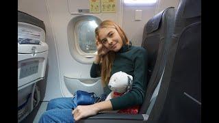ПЕРЕЕХАЛА В ЕВРОПУ В 14 ЛЕТ! перелет, мой живот и еда в самолете...