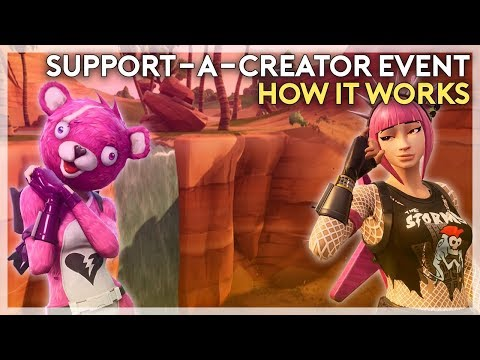 Support-A-Creator Event and How it Works (Fortnite Battle Royale)