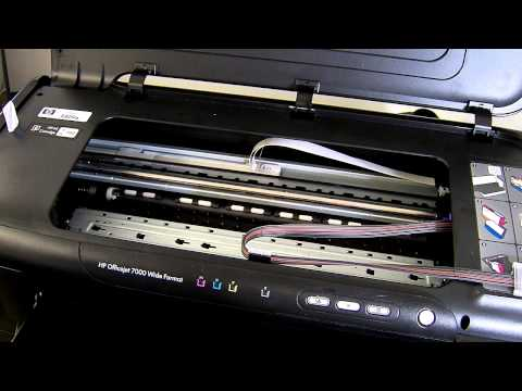 Ciss continuous ink system install for HP officejet 7000 a3 printer