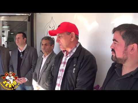 Prefeito Ayres Scorsatto e autoridades faz agradecimento ao Deputado Estadual Marcio Camargo pela vinda da Carreta da Mamografia para Juquitiba
