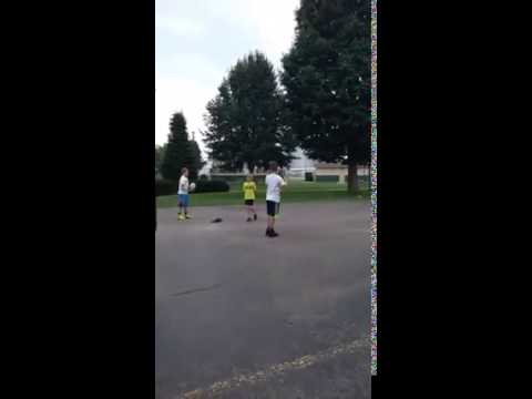 New Double Basketball Trick Shot!