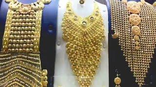 Dubai Gold Souk..Huge Unique Gold Necklaces & Bahubali Ring/ Is Gold So Cheap Here?