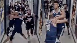 New LEAKED Footage Shows Nevada Players STORMING Utah State's Locker Room To FIGHT!