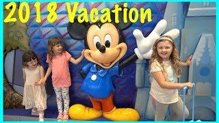 Disney Vacation with Ava Isla Olivia and Fun Family Three wanna come?