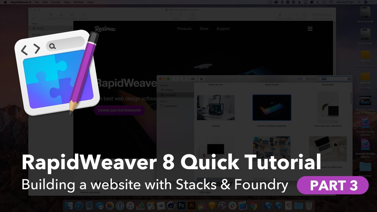 Building a quick website with RapidWeaver, Stacks, and Foundry — Part 3