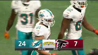 CBS4 NFL Dolphins vs Falcons Primetime Game Good Greek Scoreboard Logo1 3rd Qtr 8 30 18