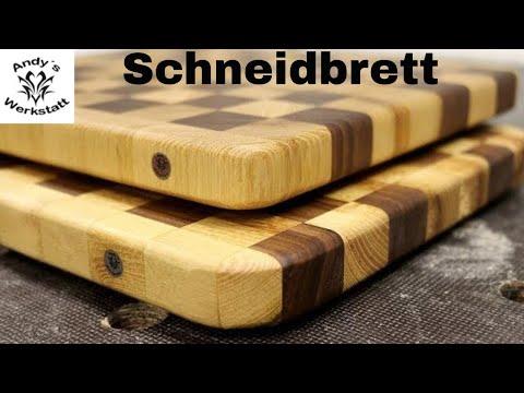 Schneidbrett Robinie Nussbaum mit Woodporn / Cutting Board Roby Walnut - diy