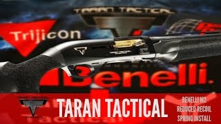REPLACING THE BENELLI M2 RECOIL SPRING WITH TARAN TACTICAL REDUCED POWER BUFFER SPRING