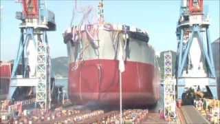 常石造船進水式「カムサマックスバルカー:KAMSARMAX」2014/9/9:LaunchingCeremony