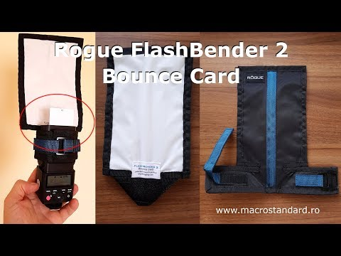 Reflector pliabil pentru blit Rogue FlashBender 2 Bounce Card