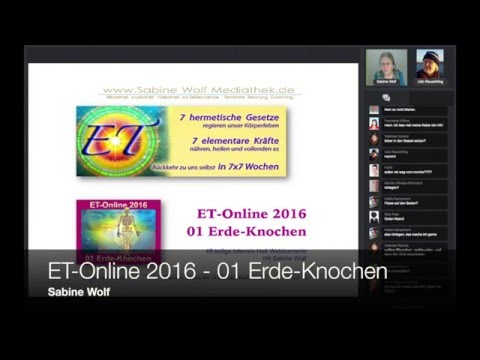 ET Online mit Sabine Wolf - 01 Erde-Knochen
