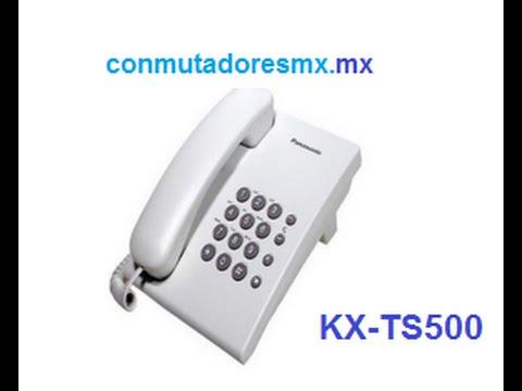 kx ts500 Teléfono unilínea sencillo para Conmutador Panasonic o línea sencilla kx-ts500