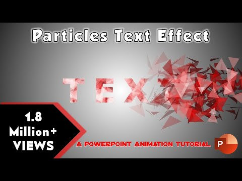 Particles Text Effect in Microsoft PowerPoint 2016 Tutorial | The Teacher