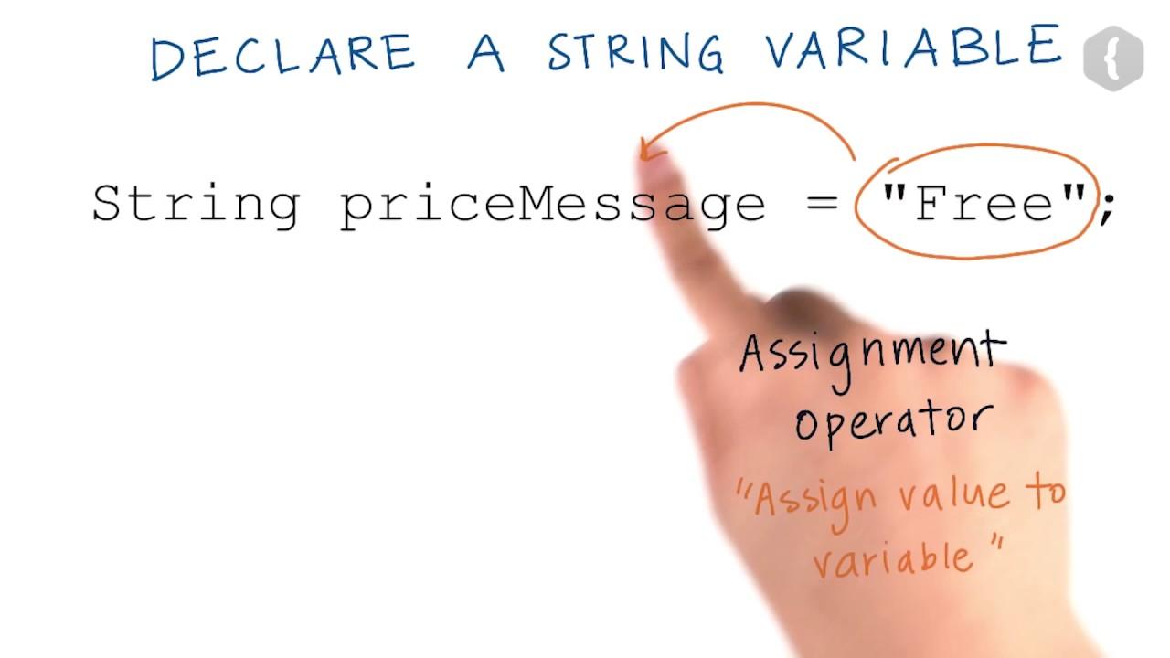 Создаём переменную типа String - 1
