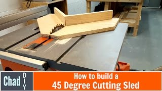 Simple 45 Degree Crosscut Sled