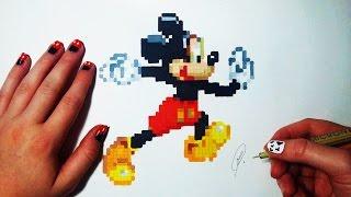 Mickey Mouse Pixel Art - Dessin (fr)