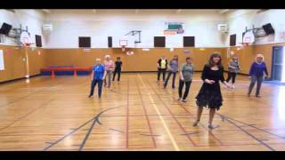 "Line Dance Demo ""Meat and Potato Man"" choreo Tripp Ultra Absolute Beginner Level easy"