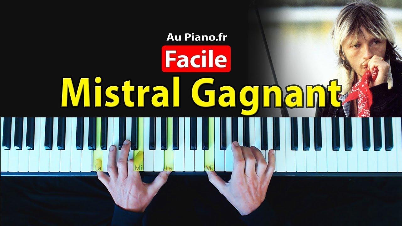 Mistral gagnant – Apprendre Musique Piano Facile Partition Aupiano.fr