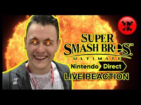 FULL LIVE REACTION to Super Smash Bros. Ultimate Direct 11.1.18 | RogersBase Smash Direct Reaction (видео)
