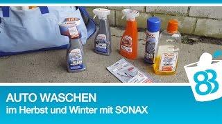 Auto waschen im Herbst und Winter | Sonax Autopflege Produkte Test | Auto richtig waschen by 83metoo