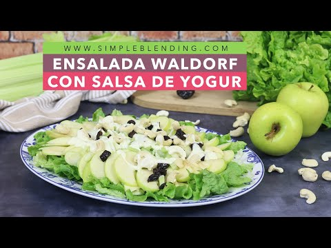 ENSALADA WALDORF CON SALSA DE YOGUR | Famosa ensalada Waldorf | Ensaladas del mundo