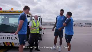 British Airways - Tug Driving Meets England Rugby