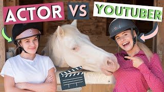 Equestrian Actor VS YouTuber! New Horse TV Show Mystic  | This Esme