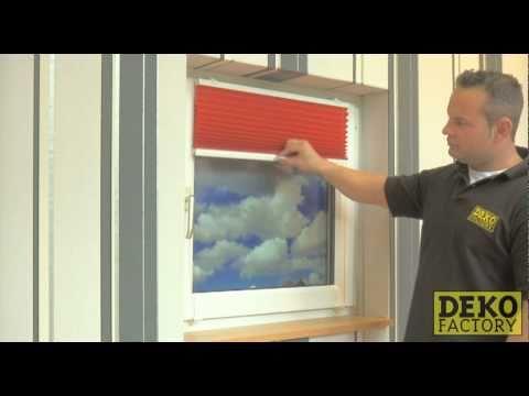 Plissee mit Klemmträgern auf den Fensterrahmen montieren ohne Bohren