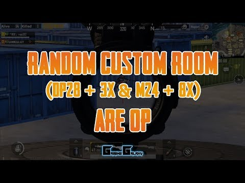 DP28+3x and M24+8x are OP | PUBG Mobile (Emulator) | Random Custom Room