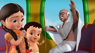 Gandhiji Ke Teen Bandar - Gandhi Jayanti Song | Hindi Rhymes For Children | Infobells