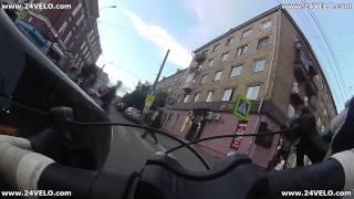 Типичное ДТП:  Идиот на Lada Priora против Велосипедиста