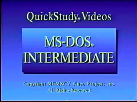 MS-DOS tutorial, or cure for insomnia?