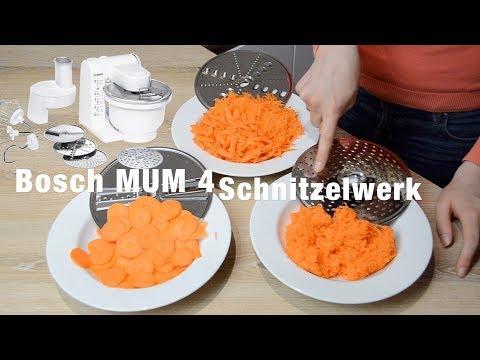 Bosch MUM 4 Schnitzelwerk | Schnitzelwerk Challenge | Welche Veggi-Scheibe wofür?