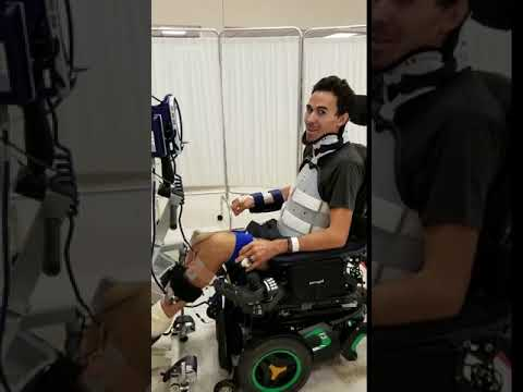 Robert Wickens Rehab - Bike simulation