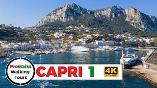 Capri - Marina Grande Walking Tour In 4K
