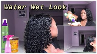 WATER WET LOOK On Natural Hair! (3C) ACTUALLY WORKS!!|Liyah Joinee
