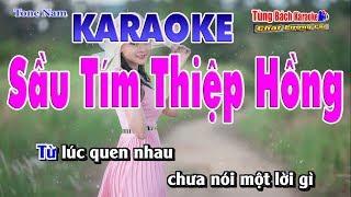 Sầu Tím Thiệp Hồng Kraoke - Nhạc Sống Tùng Bách