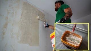 שיטה הכי קלה למריחת שפכטל אמריקאי | איך לצבוע קירות חלק