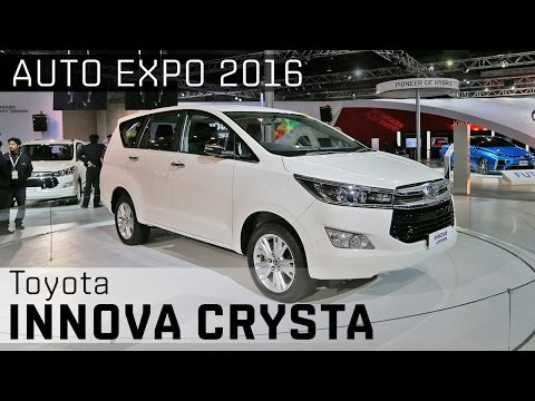 Toyota Innova Crysta :: 2016 Auto Expo WalkAround Video :: ZigWheels India