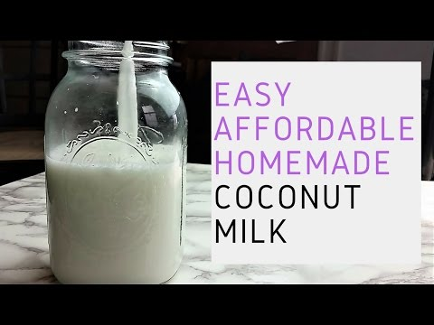 COCONUT MILK USING DRIED COCONUT (AND USE THE PULP!)