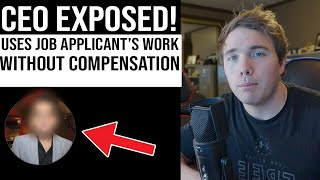 EXPOSING A CEO! USING JOB APPLICANT WORK WITHOUT PAY |#coffeezilla #india