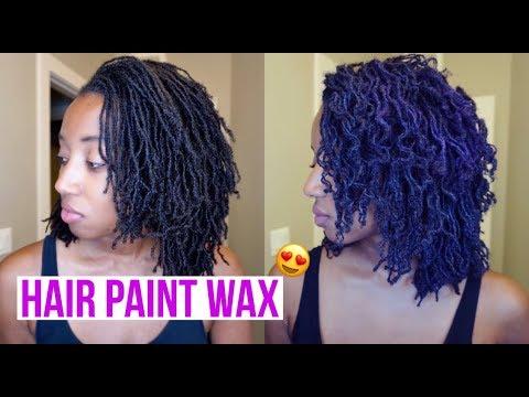 SISTERLOCKS - HAIR PAINT WAX REVIEW!!   MIXING COLORS
