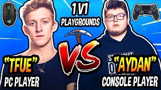 TFUE VS GHOST AYDAN 1v1 Playgrounds - Best PC Player VS Best Console Player! (CRAZY BUILD BATTLES!)