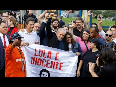 Video: Lula da Silva en libertad