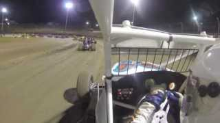 preview picture of video 'Murray Bridge 20/04/13 - Wingless Sprints Feature - Onboard video & crash'