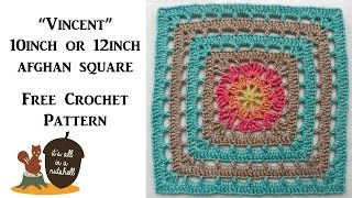 Vincent Afghan Square - Free Crochet Pattern
