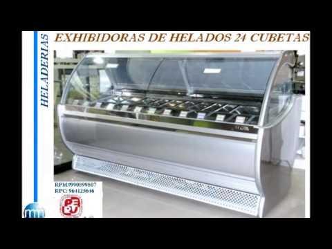 Exhibidoras de helados - Cimmsa